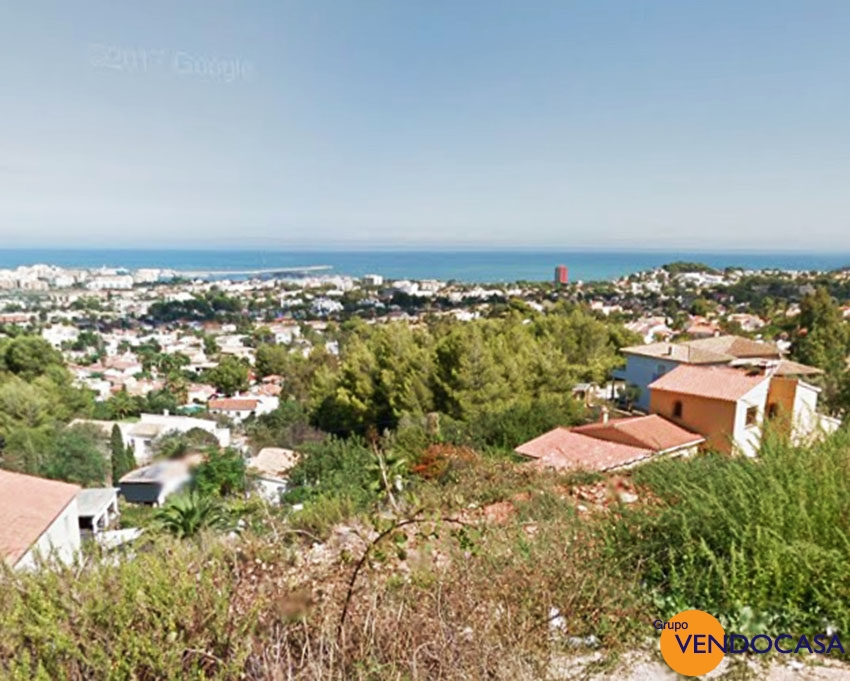 1135 M2 building plot with  superb sea view